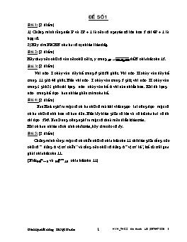 Tổng hợp 45 Đề thi học sinh giỏi môn Toán Lớp 6, 7, 8